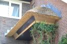 Rieten afdak boven voordeur