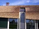 Doorlopend raam in rieten dak